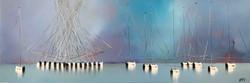 Les voiliers de Mykonos, 60x180cm