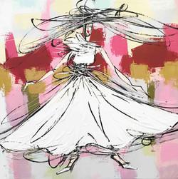 La fille à la robe blanche...   80x80cm