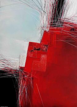 Paysage rouge, 70 x 50cm