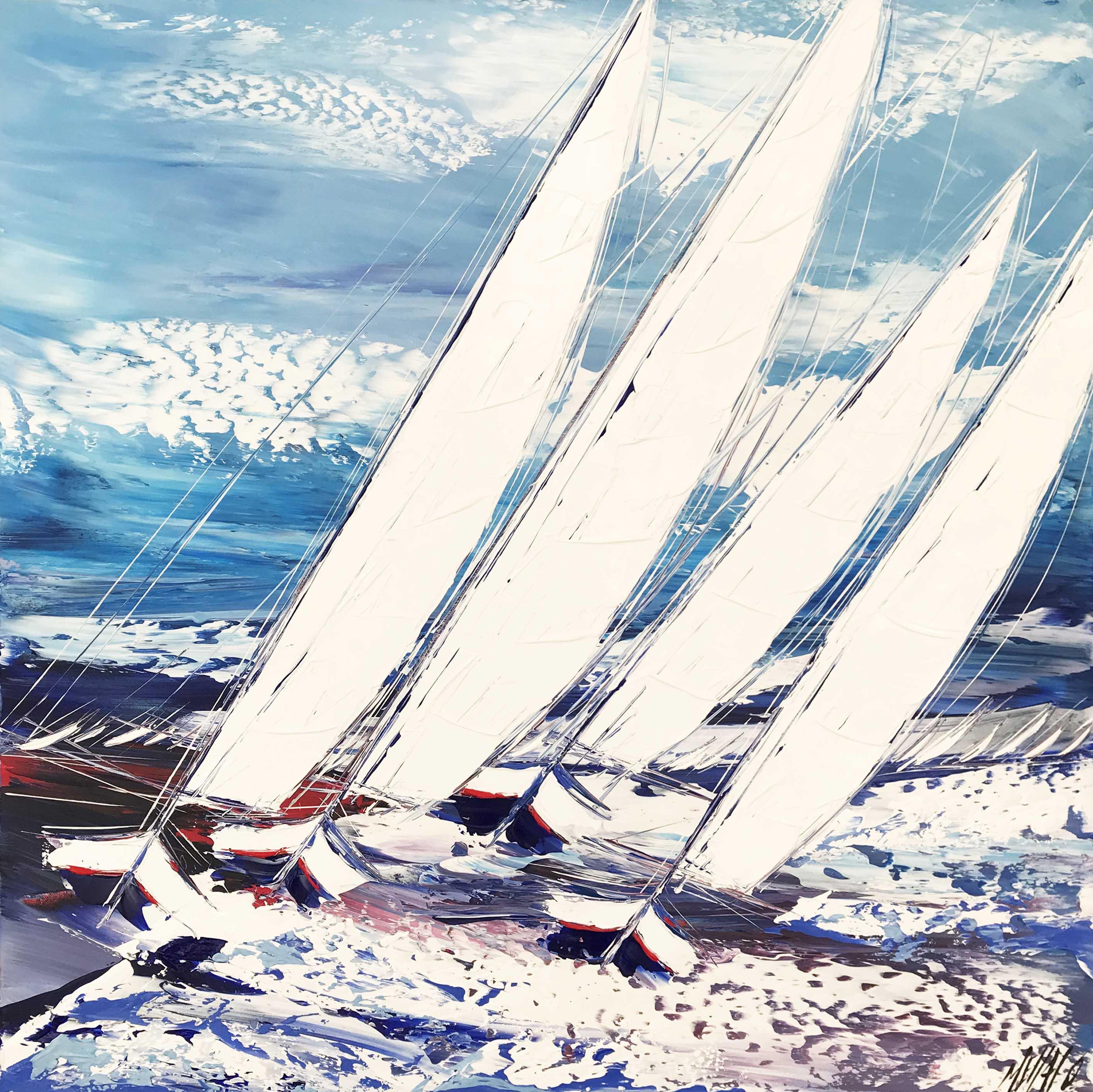 Les voiliers de la mer Baltique   80x80cm