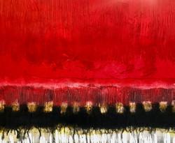 Horizon en rouge | 120x150x5cm