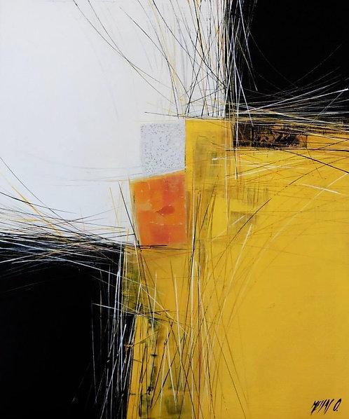Paysage en jaune... | 60x50cm