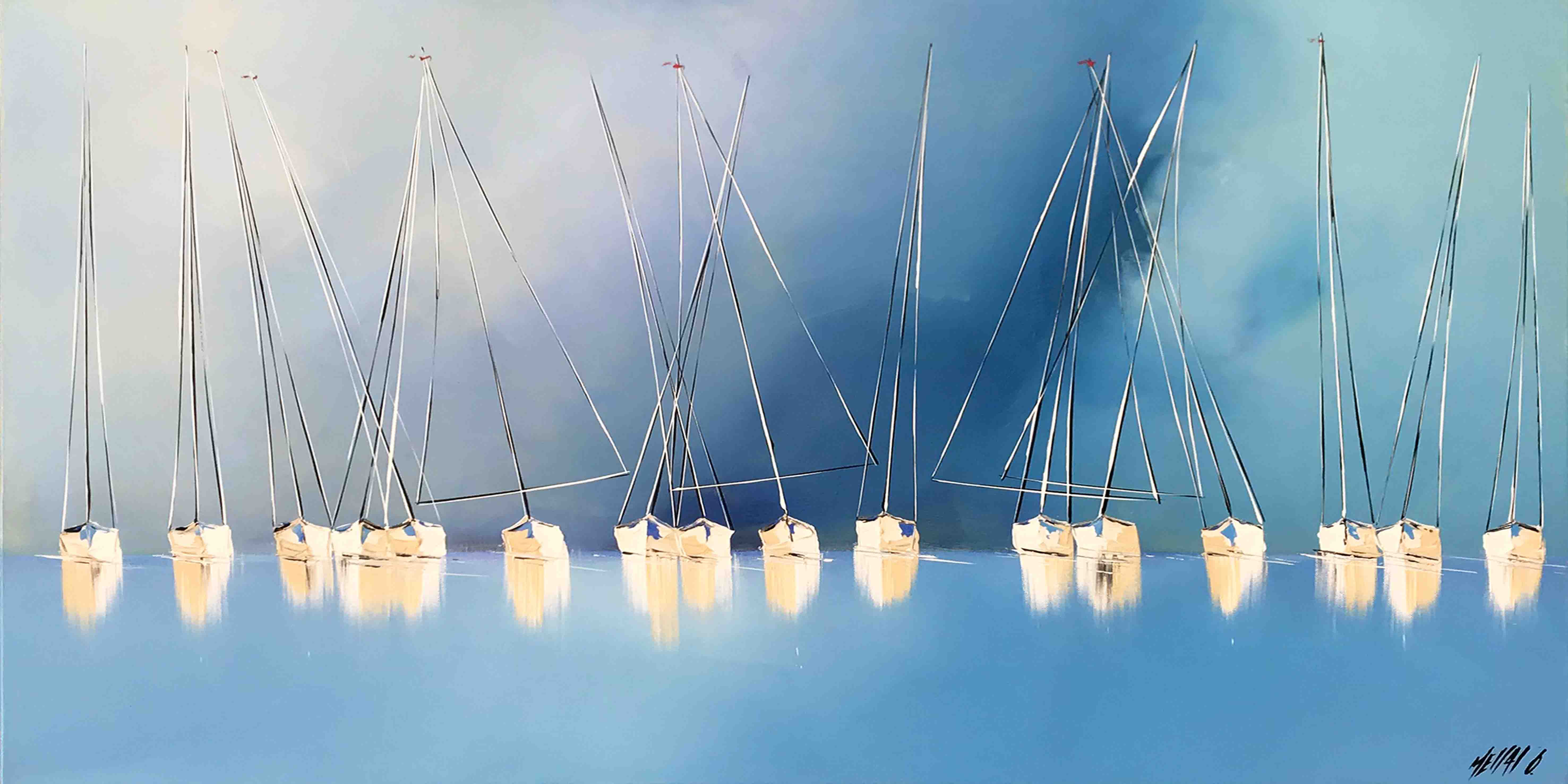 Le chant des mâts... II, 50x100cm