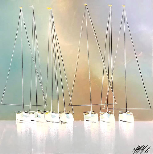 Douceurs en mer... | 50x50cm