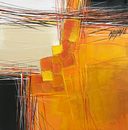Paysage en orange... II   30x30