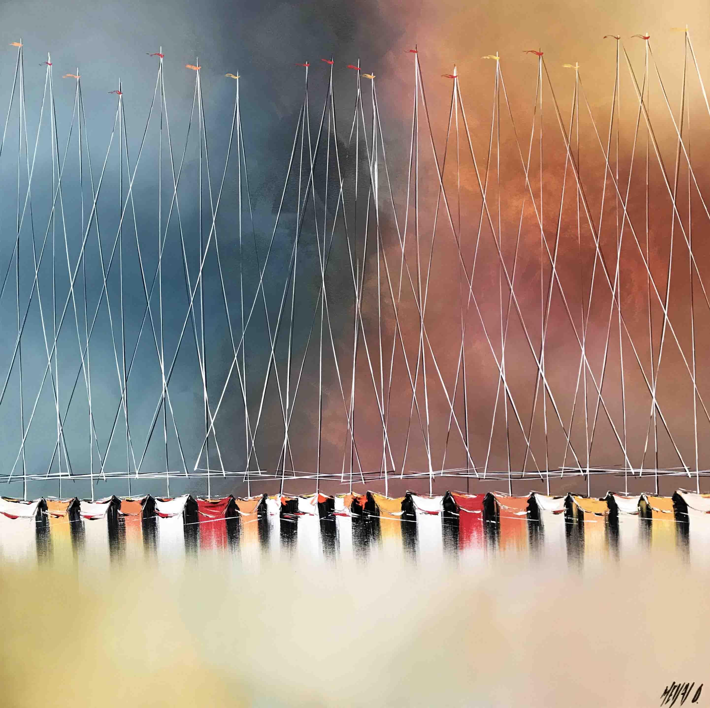 Les couleurs de l'été indien..., 100x100cm
