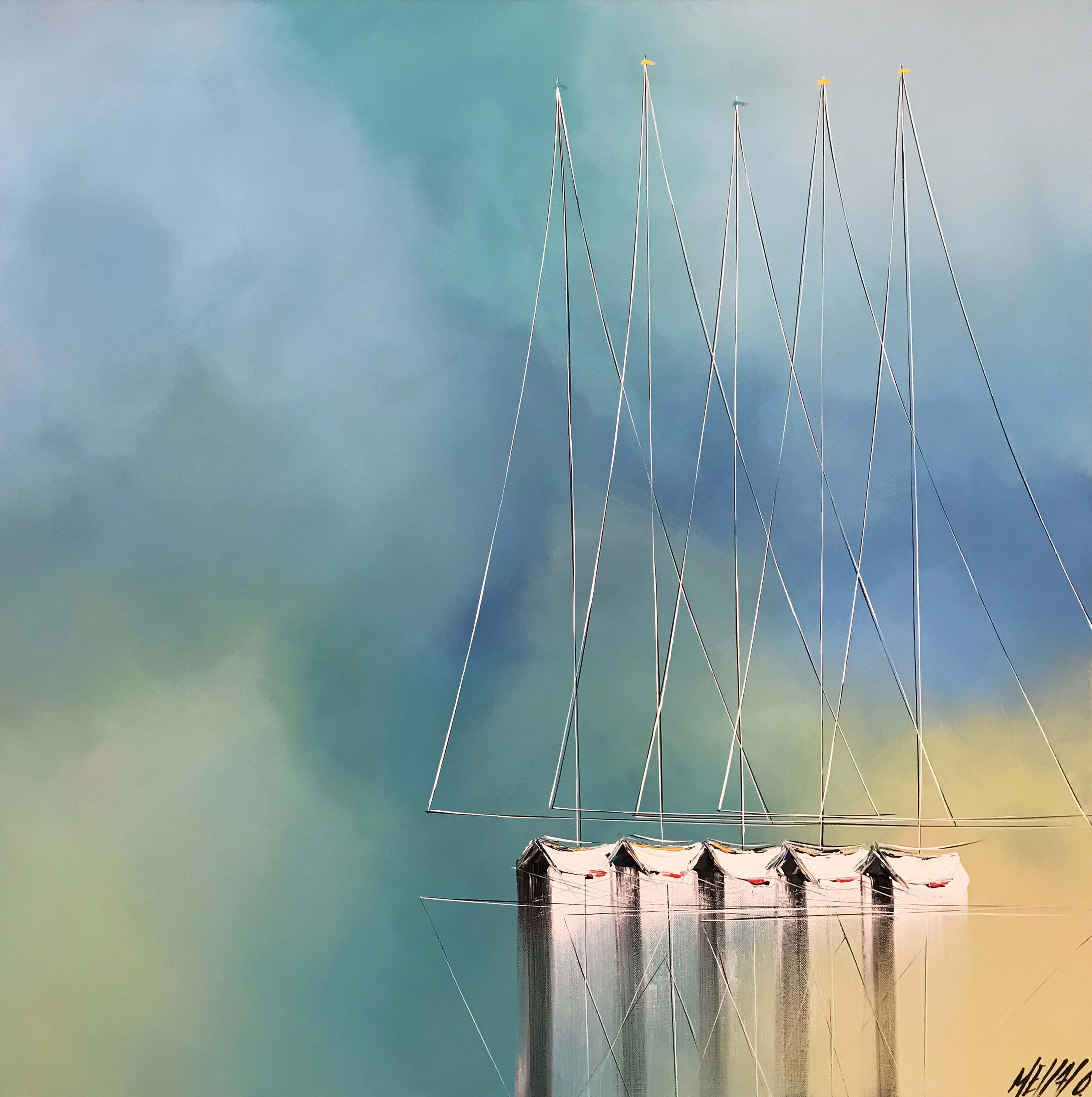 Méditation en mer... | 80x80cm