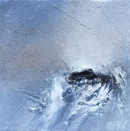 Dans le creux de la vague... II | 20x20cm