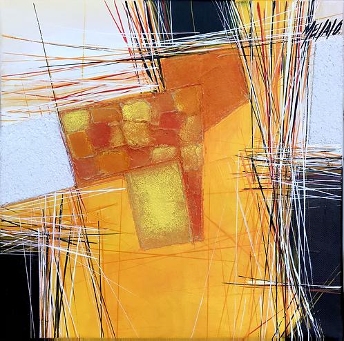 Paysage en orange... V | 30x30cm