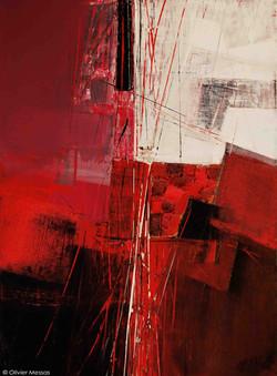 Paysage en rouge II - 40cm x 30cm