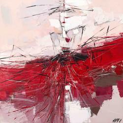 La danseuse de flamenco   80x80cm