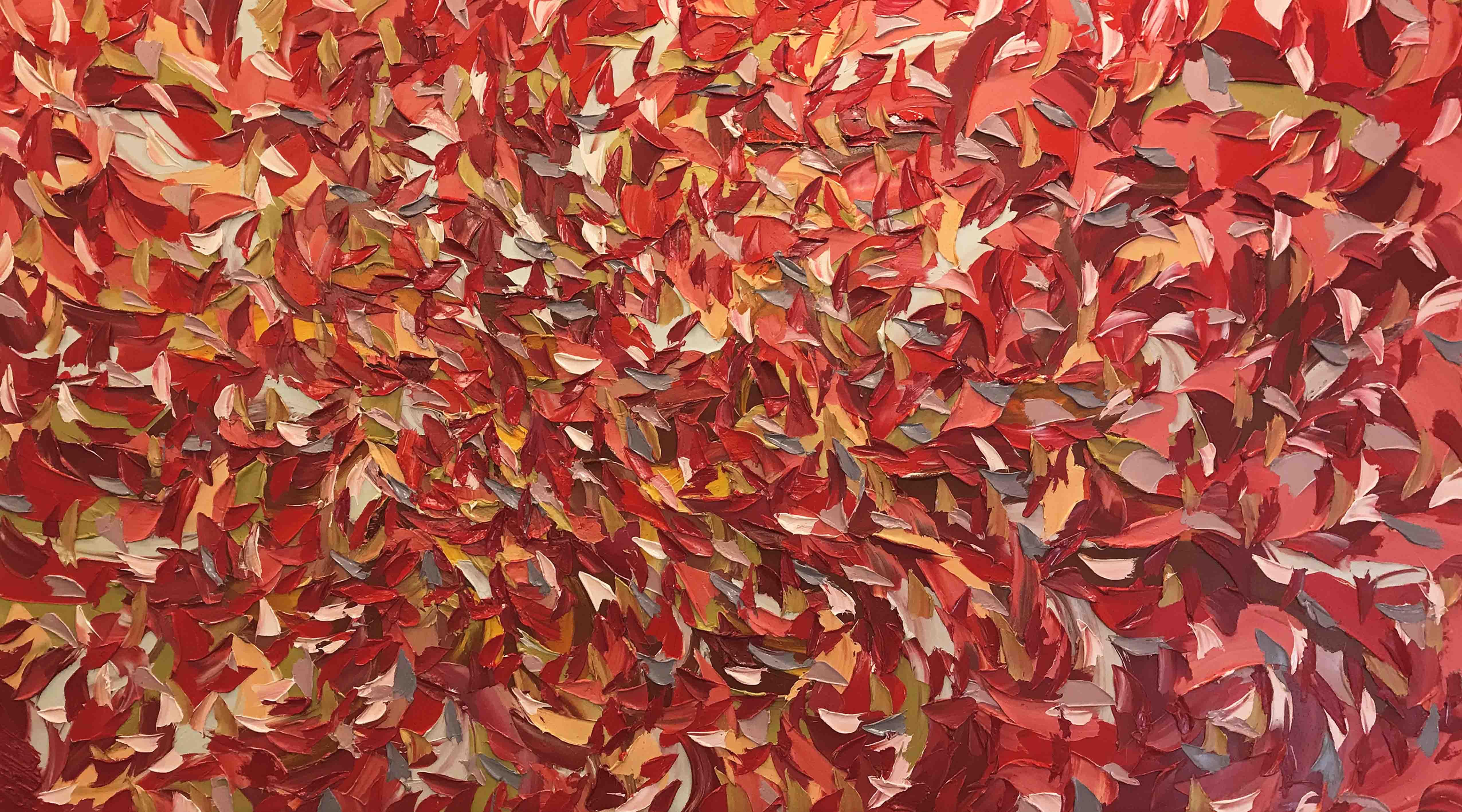 Expression en rouge   100x180cm
