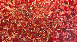 Expression en rouge | 100x180cm