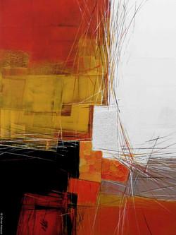 Paysage orange III -  60cm x 80cm
