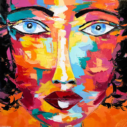 "EDITH ""Portrait 18""   120x120cm (2020)"