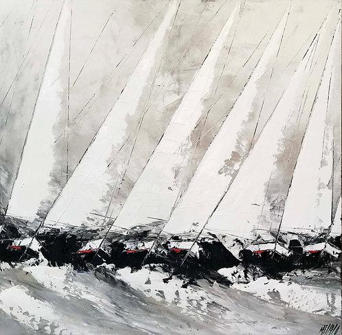Les voiles de Saint-Tropez...   140x140cm