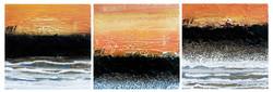 Atmosphère orange, 20cm x 60cm