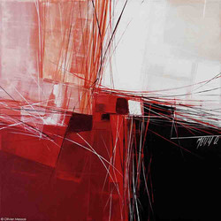 Le fleuve rouge II, 40cm x 40cm