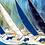Thumbnail: Les reflets bleus du ciel et de la mer... | 40x120cm🔴