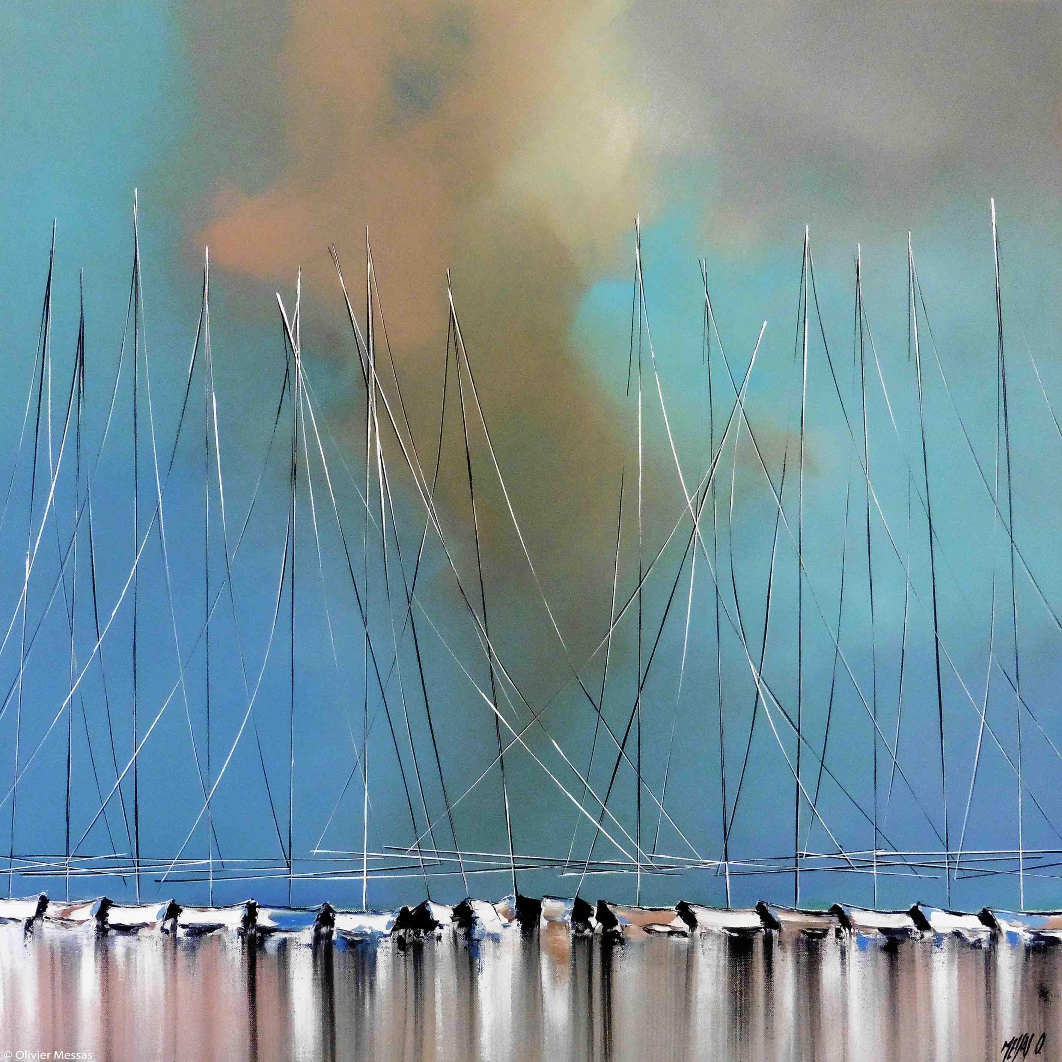 Ciel bleu... | 80x80cm