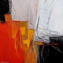 Paysage en orange -  40cm x 40cm
