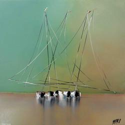 Marée basse, 50x50cm