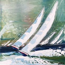 Énergie en mer... III, 50x50cm