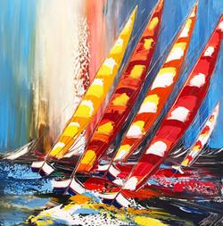 Les voiliers multicolores...
