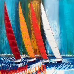 Les voiliers de la mer Adriatique... | 100x100cm