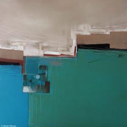 Horizon bleu III, 60x60cm