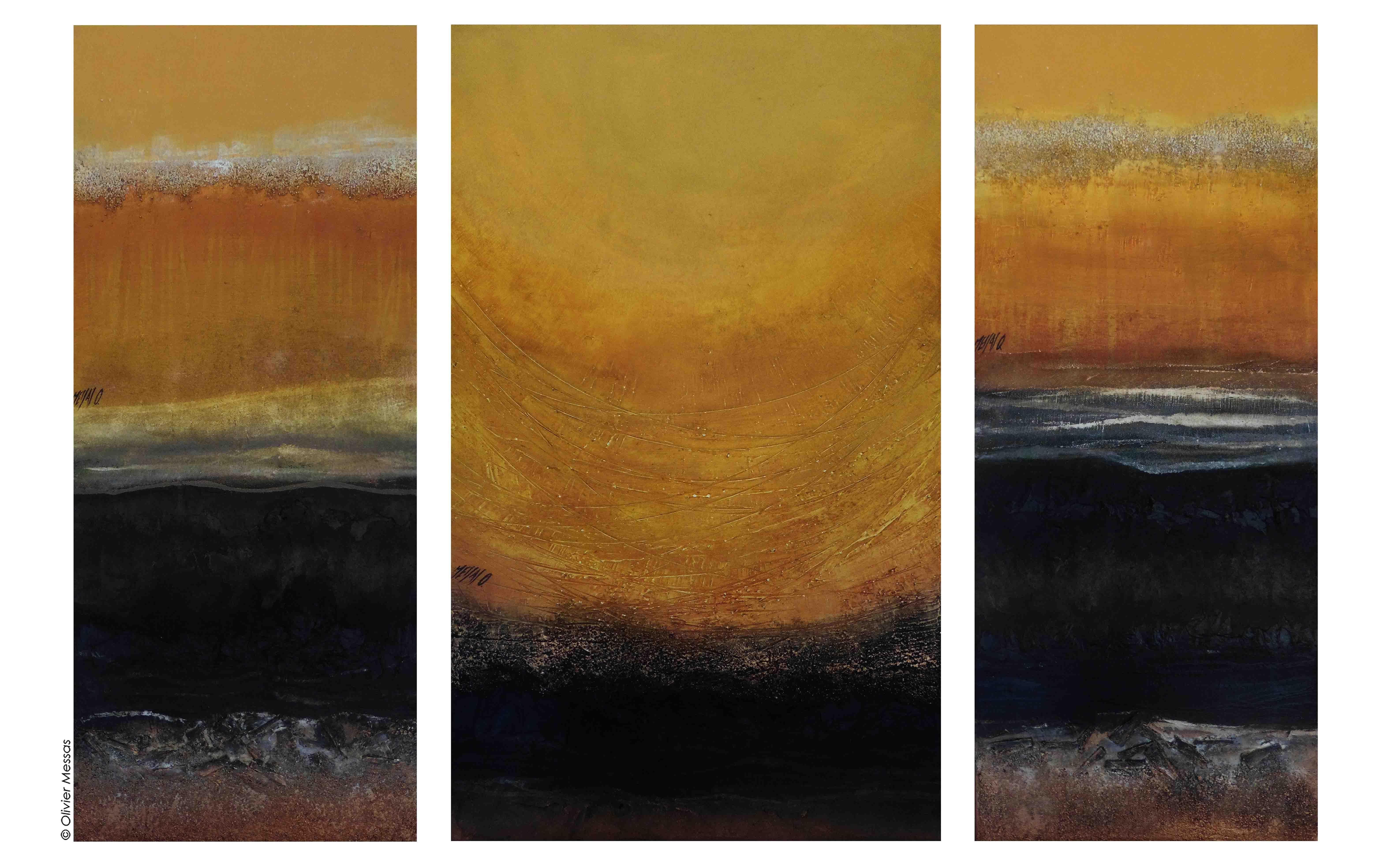 Soleil et méditation..., 100x150cm