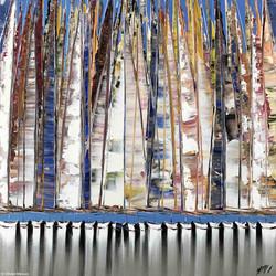 Les voiles nomades, 80x80cm