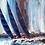 Thumbnail: Les grandes voiles  bleues... | 100x100cm