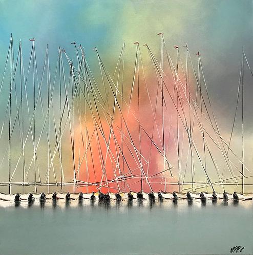 Les voiliers de l''Aurore... II | 80x80cm 🔴