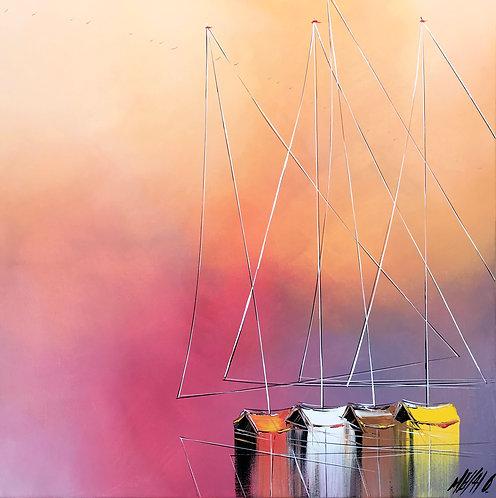 Les couleurs de l'aurore... | 60x60cm