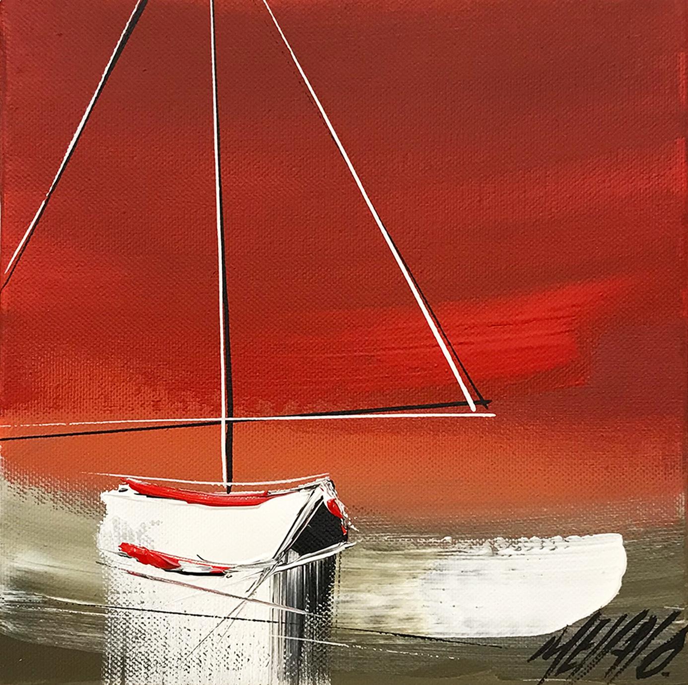 Le voilier du crépuscule... | 20x20