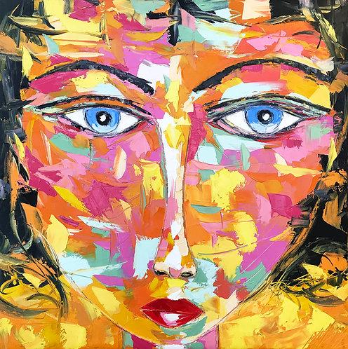 ELVIRA | Portrait 019 | 100x100cm
