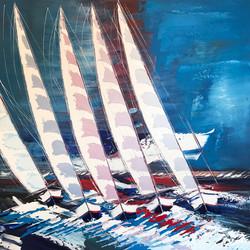 Les voiliers de Saint-Tropez... | 120x120cm