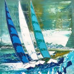 Les voiliers de Trogir... | 80x80cm