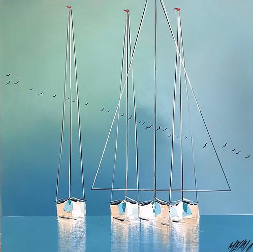 Les reflets bleus... | 40x40cm