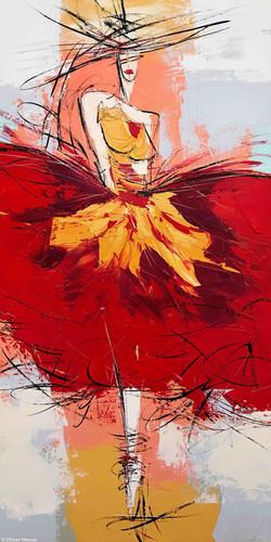 La danseuse de flamenco | 100x50cm