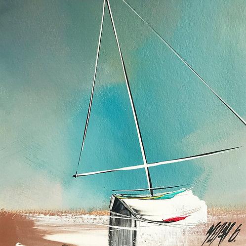 À marée basse... | 19x19cm [cadre 40x40cm]