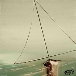 En solitaire III, 20x20cm