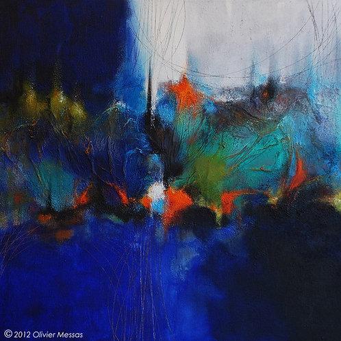 Le grand bleu... | 100x100cm