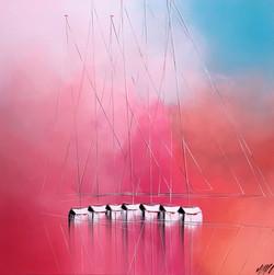 Le ballet des voiliers... | 100x100cm