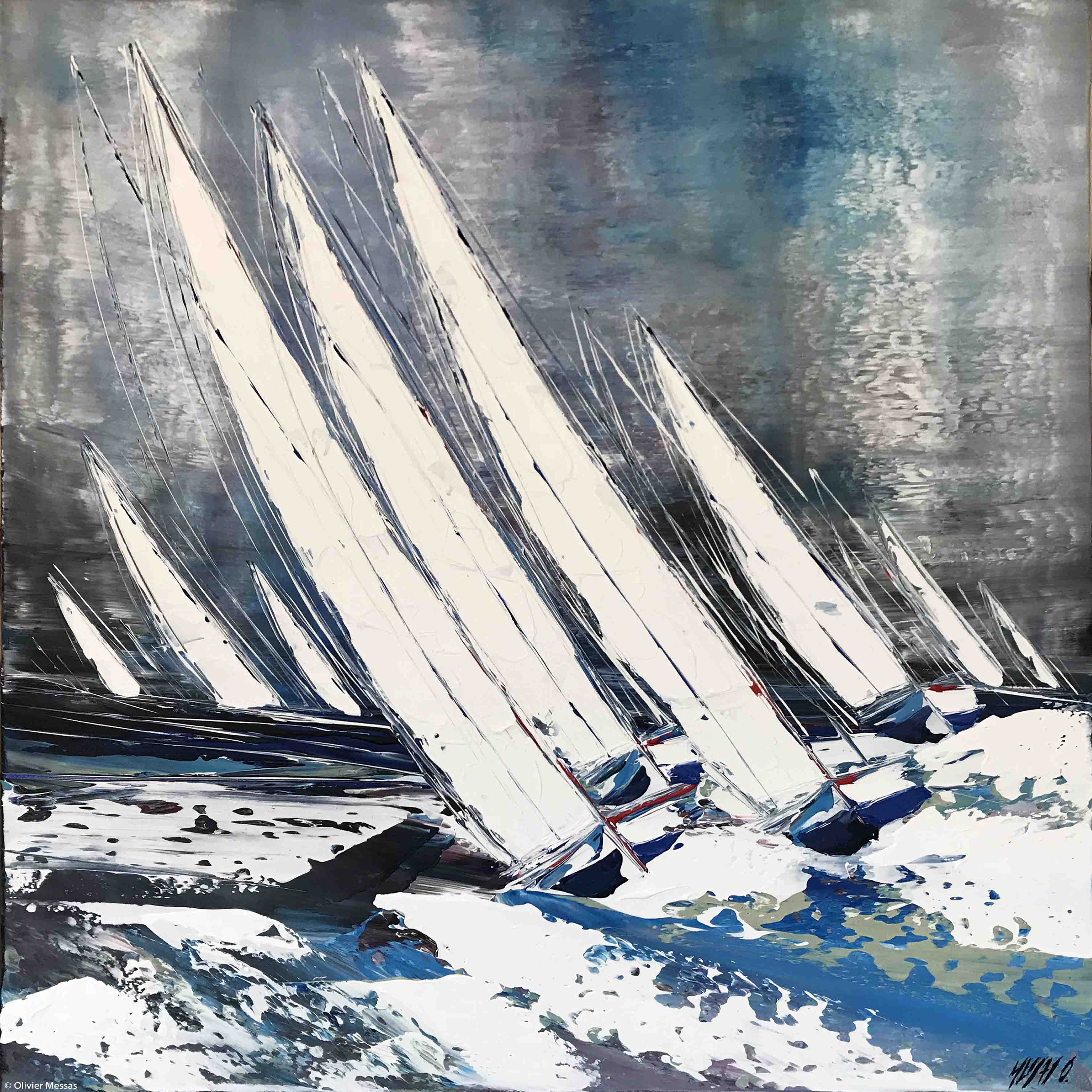 Entre vent et vague... II, 80x80cm