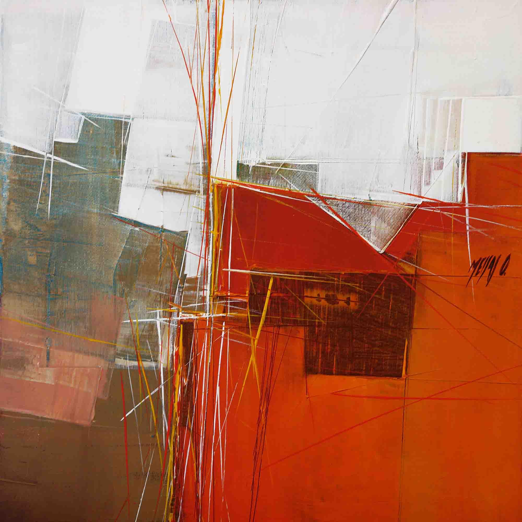 Paysage orange II - 40cm x 40cm