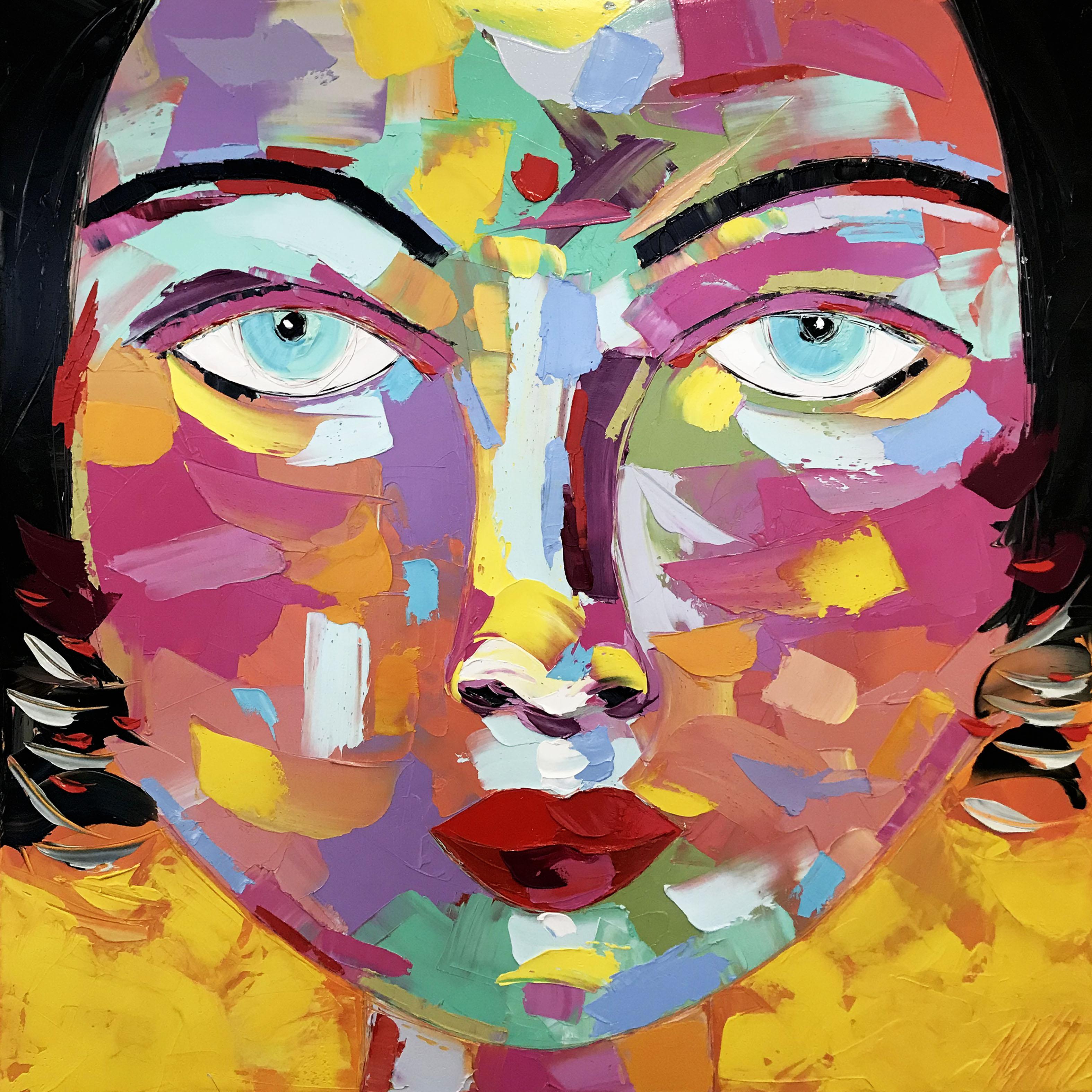 INDIRA   Portrait 23   80x80cm (2020)