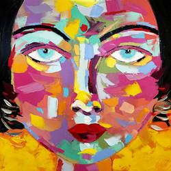 "INDIRA ""Portrait 23""   80x80cm (2020)"