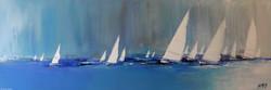 La course au vent..., 40 x 120cm